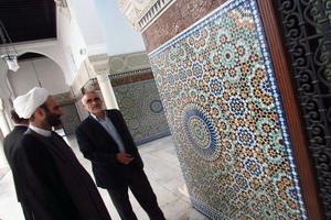دیدار استاد مبلغی با مدیر مرکز امام غزالی مسجد بزرگ پاریس